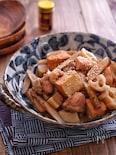 めんつゆで簡単!*根菜と絹厚揚げと鶏肉の煮物*