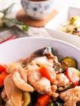 甘辛いたれでご飯がススム♡鶏肉とたっぷり夏野菜の中華風炒め