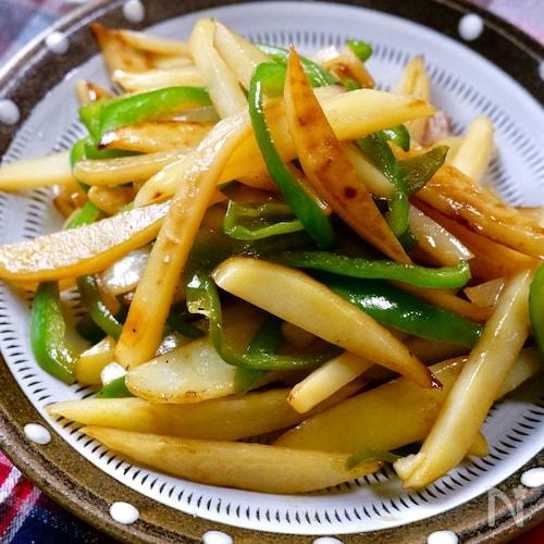 さっと副菜♡『ピーマンとじゃがいもの中華炒め』おつまみにも♪