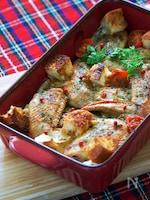 鶏手羽先とバゲットのトースターオイル焼き