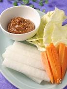 旬野菜を美味しく食べる♪にんにく味噌ディップ