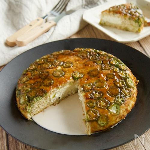 クリームチーズがとろり♪オクラ入り大きな豆腐つくね