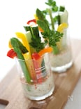 スティック野菜の豆腐ディップソース