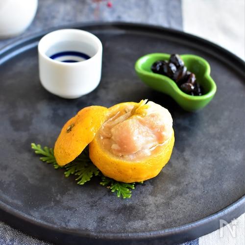 鶏の柚子蒸し*フライパンで簡単!おもてなし懐石風♪