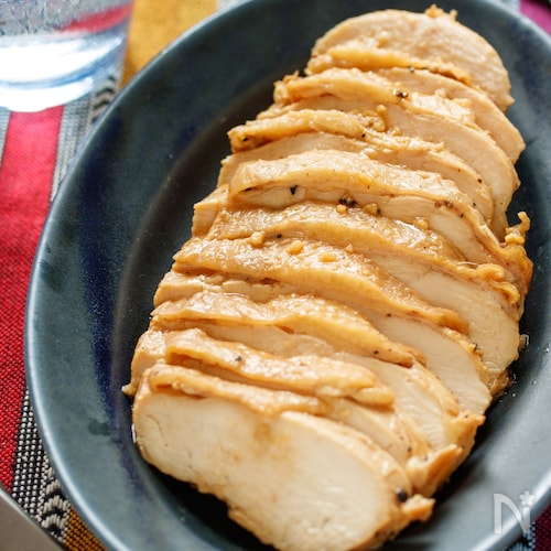 むね肉deガーリック醤油チキン【#作り置き #レンジ】