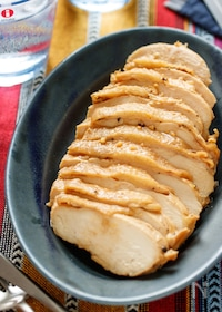 『むね肉deガーリック醤油チキン【#作り置き #レンジ】』