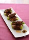 アスパラガスの柚子胡椒牛肉巻き