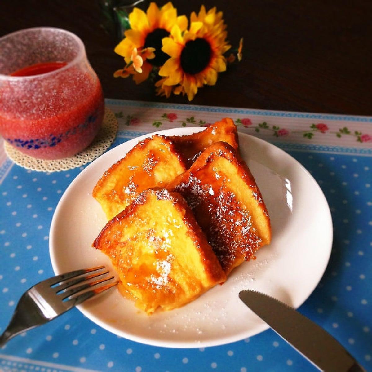 卵&牛乳なし!プリンひとつでフレンチトースト