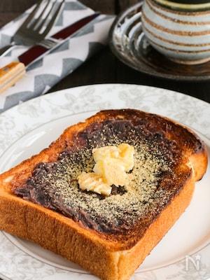 サクッととろけてじんわり美味しい♡たっぷりあんバター食パン