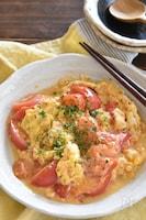 トマトとふわとろ卵の中華炒め