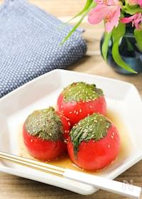 『【無限トマト】ポン酢とゴマ油の風味がたまらない!』