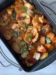 太良とジャガイモのトマト煮