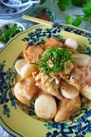 むね肉とホクホク長いものニンニク塩炒め【鶏肉切り方保存版】