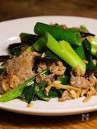 台湾ネギたっぷり牛肉炒め 「葱爆牛肉」(動画あり)