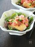 にんにくチップが決め手☆豆腐ステーキのサラダ