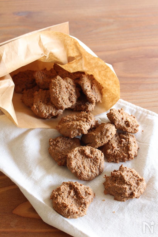 プロテイン入りのとおからと豆乳のココア味のクッキー