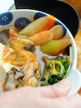 ネギと牡蠣のキムチ鍋