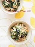 【常備菜】豆入り。春菊とえのきの炒めナムル