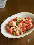 トマトとえのきのさっぱりごま酢和え