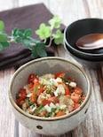 簡単でさっぱり美味しい♡納豆と新玉ねぎとトマトのごま大葉和え