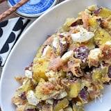 クリチde濃厚♪さつま芋と生ハムのハニマスサラダ