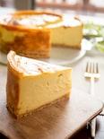 ミキサーで混ぜるだけ!さつまいものベイクドチーズケーキ