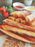 とろ〜り・熱々☆冷凍ポテトとソーセージのチーズ春巻き