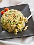 小松菜と甘辛ひき肉の和風チャーハン