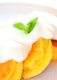 『ふわふわパンケーキをホットケーキミックスで簡単に作るレシピ』
