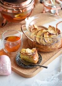 『1番簡単♥メープルりんごの幸せケーキ♥ホットケーキミックス』