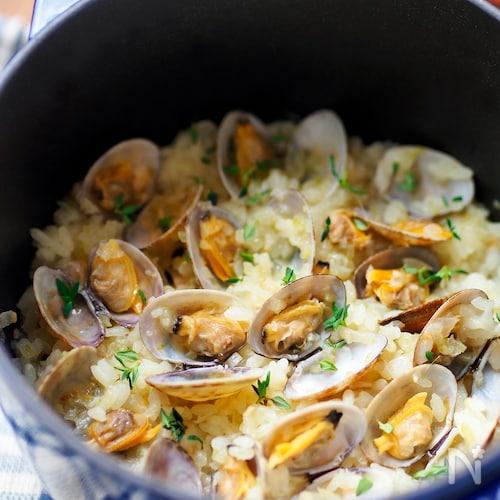 【STAUB】バスクのアサリご飯