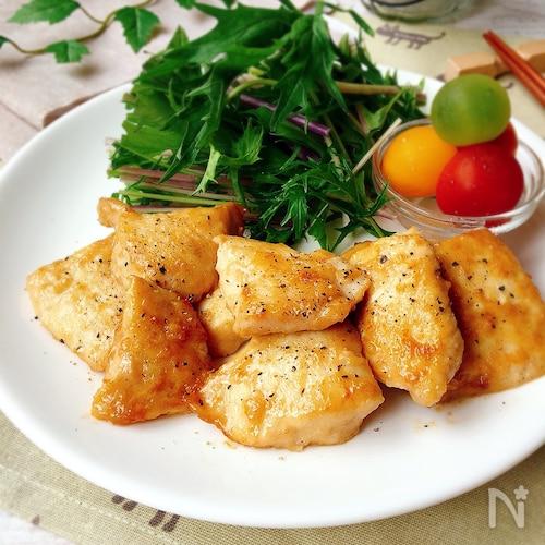 蒸し焼きで柔らかい✤鶏肉のオイマヨソテー