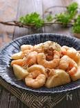 【らくレピ】豚こまとむき海老と長芋のにんにくマヨ炒め