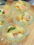 桃とモッツァレラチーズのカプレーゼ