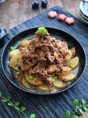フライパンで作る!つゆだくな焼き大根と牛肉の煮もの