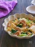 小松菜と豆もやしと豚バラの豆腐あんかけ煮