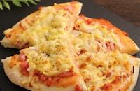 生地作りから30分!シンプルハムピザ&スイチリピザソース