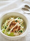 夏の夕方を思い出す、豆腐のサラダ