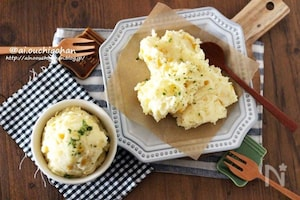 子供も喜ぶダブルチーズのうまみ♡コーンたっぷりポテトサラダ♡