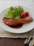 鮭のソテー~メープルマスタードソース~