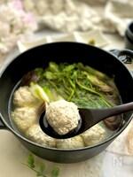 ふんわりふわふわ豆腐とれんこんの鶏つくね鍋