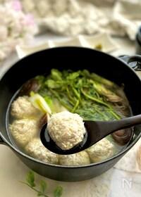 『ふんわりふわふわ豆腐とれんこんの鶏つくね鍋』