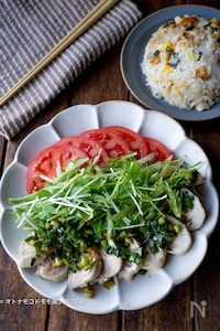 【炊飯器で2品調理】ちくわ炒飯&サラダ感覚のよだれ鶏