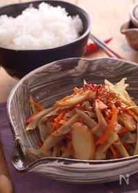 『麺つゆで簡単きんぴら☆お弁当*作り置き』