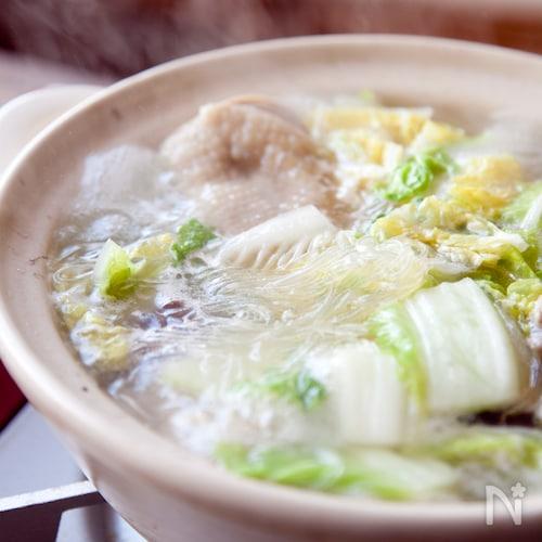 白菜と鶏肉のピェンロー鍋