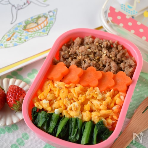 豚そぼろのお花畑弁当【幼児弁当】