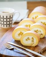 ふわふわ♩ 栗の純生ロールケーキ