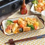 たっぷり焼ける!根菜と厚揚げの七味味噌チーズグリル