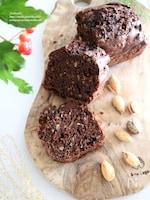 ズッキーニとクルミのココアパウンドケーキ