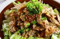 豚肉とゴボウのごま味噌にんにく炒め